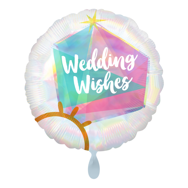 1 Ballon - Iridescent Wedding Ring