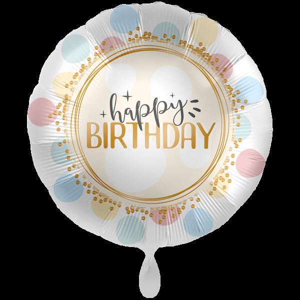 1 Ballon XXL - Birthday Rainbow Dots