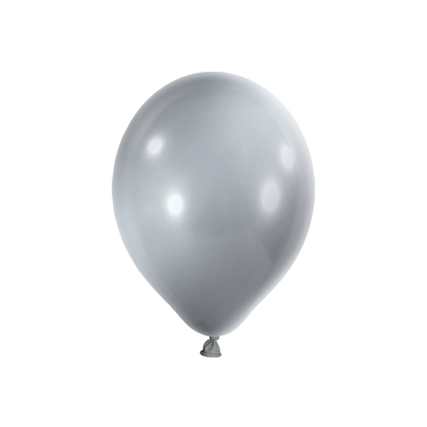 100 Luftballons - Ø 23cm - Metallic - Silber