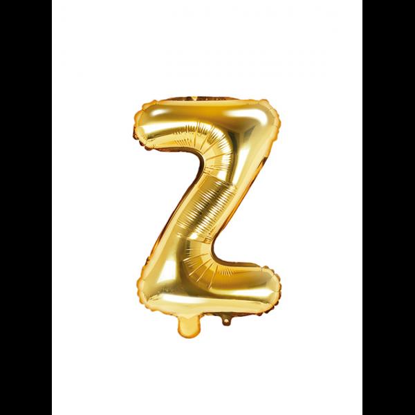 1 Ballon XS - Buchstabe Z - Gold