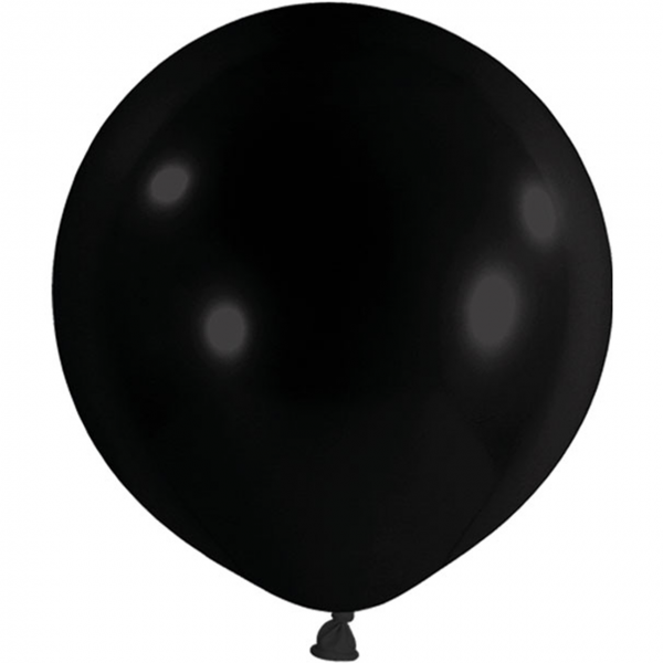 1 Riesenballon - Ø 1m - Schwarz