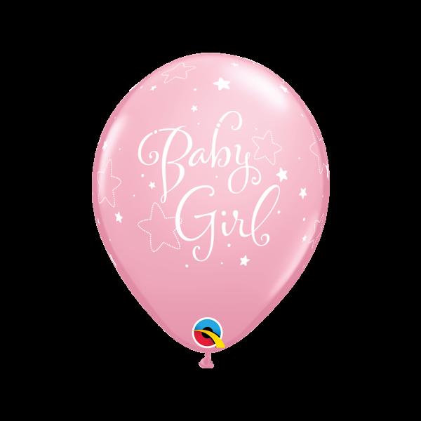 6 Motivballons - Ø 27cm - Baby Girl Stars