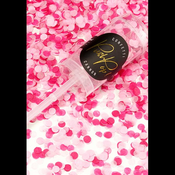 1 Konfetti Push Pop - Rosa & Pink