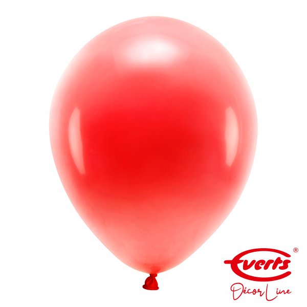 50 Luftballons - DECOR - Ø 35cm - Pearl & Metallic - Apple Red