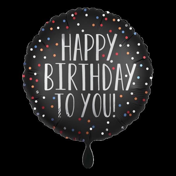 1 Ballon - Happy Birthday to You Satin Dots