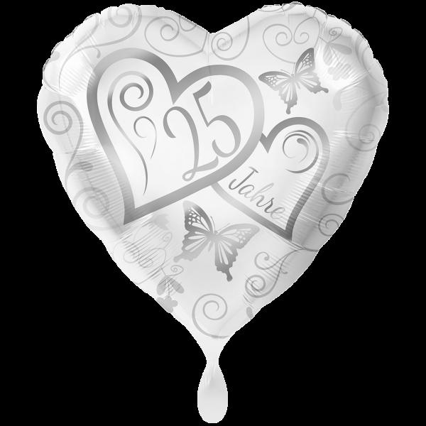 1 Ballon XXL - Herzen 25 Jahre