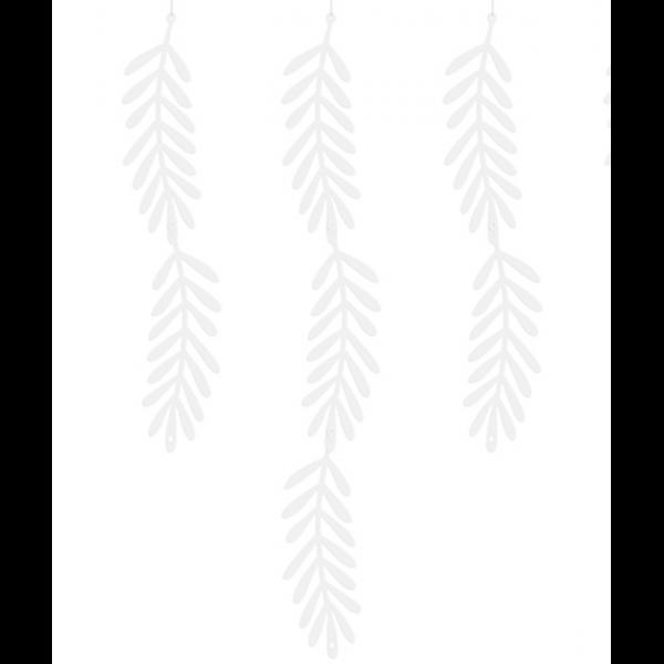 1 Bannergirlande - White Leaves