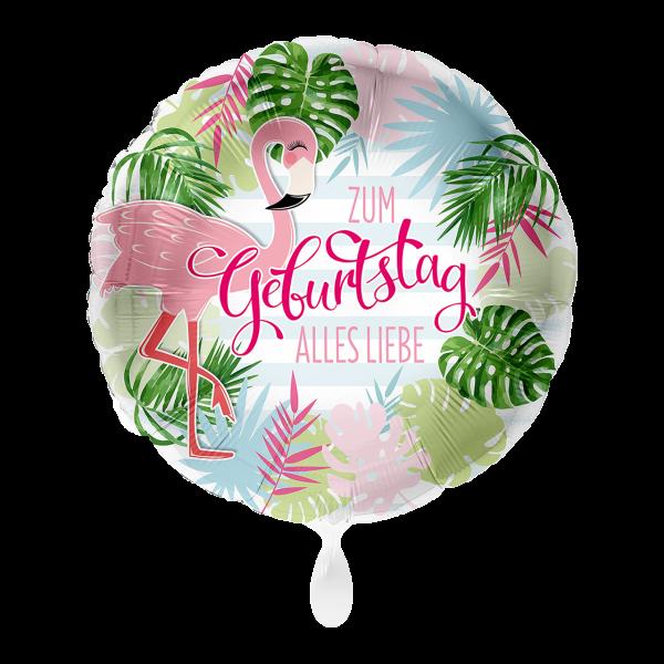 1 Ballon - Geburtstag Flamingo