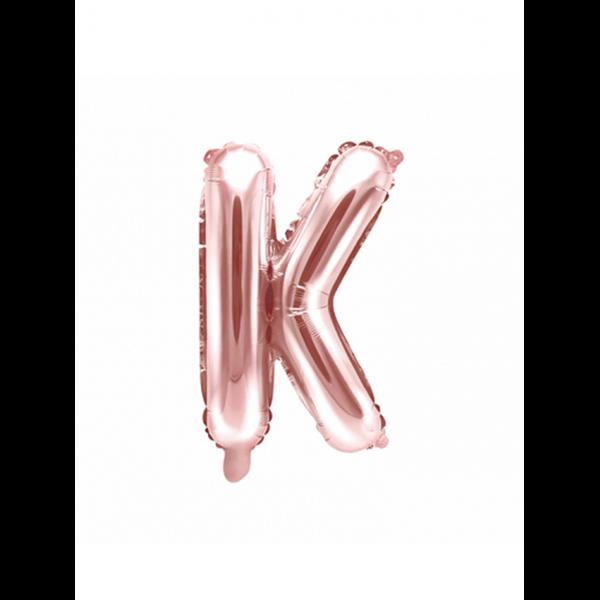 1 Ballon XS - Buchstabe K - Rosegold
