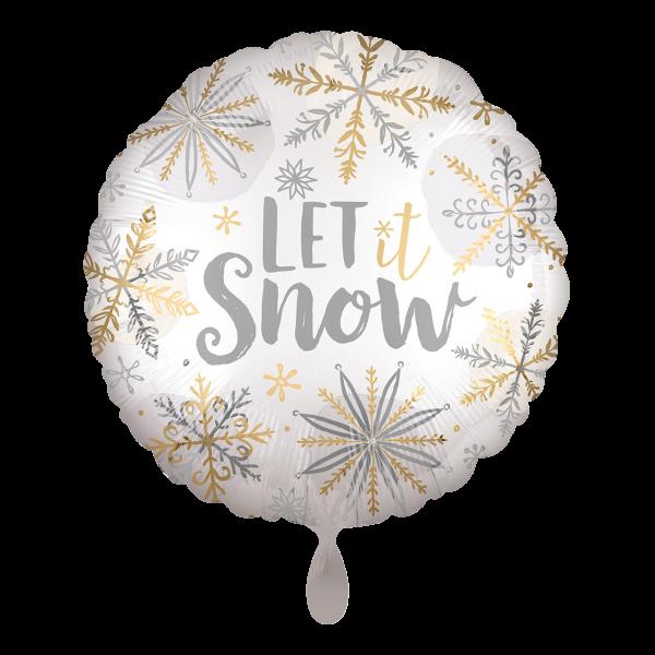 1 Ballon - Shining Snow Satin