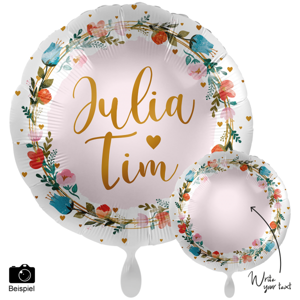 1 Ballon XXL - Personalize IT - Floral