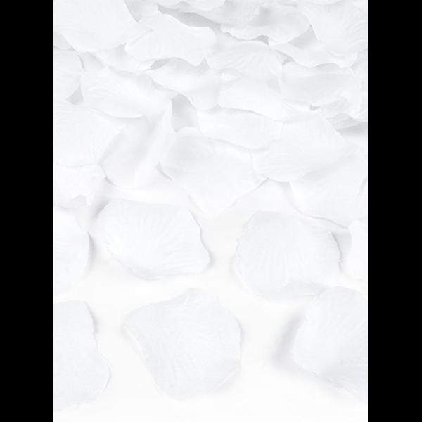 500 Rosenblätter - Weiß