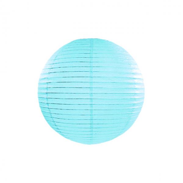 1 Lampion - Ø 25cm - Hellblau