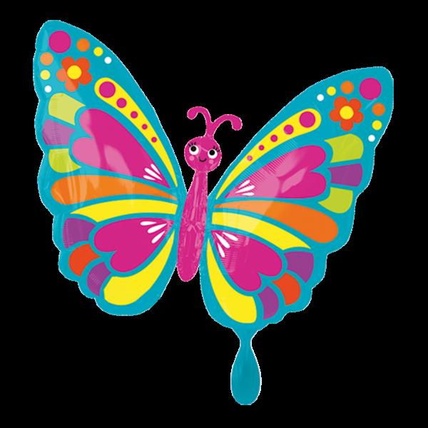 1 Ballon - Happy Spring Butterfly