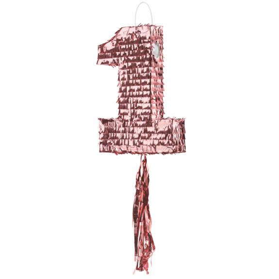 1 Pinata - Number 1 - Rosegold