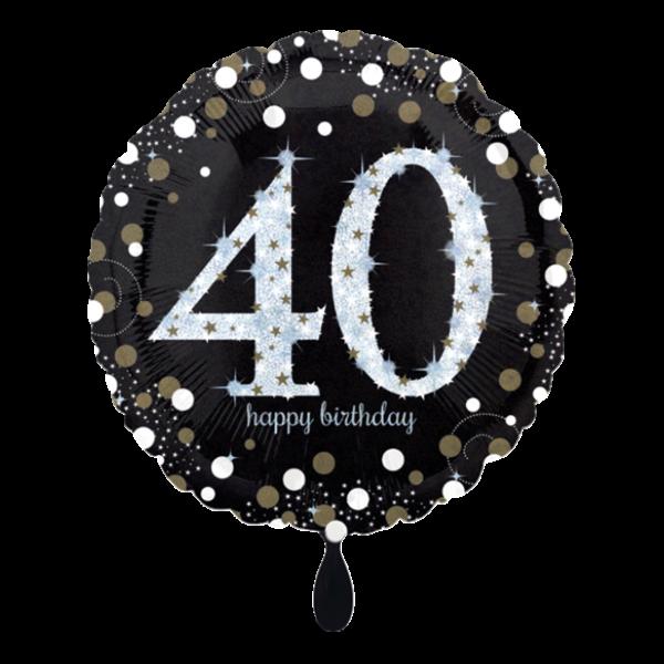 1 Ballon - Sparkling Birthday 40