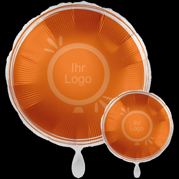 1 Werbeballon XXL - Rund, Ø 71cm, 2-Seitig - Satin - Orange