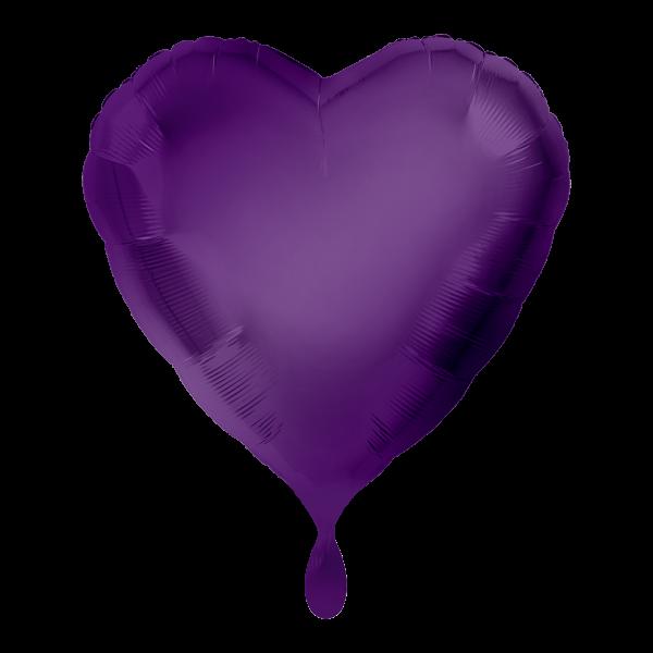 1 Ballon - Herz - Lila