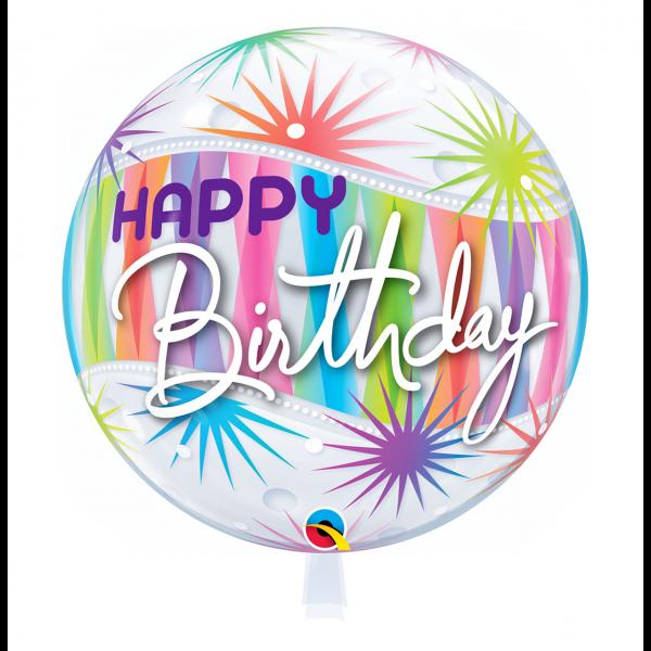 1 Bubble Ballon - Birthday Sorbet Starblast