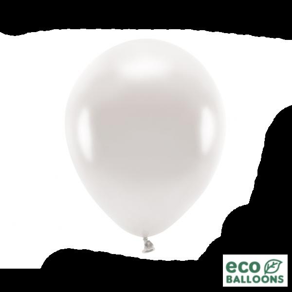 10 ECO-Luftballons - Ø 30cm - Metallic - Pearl