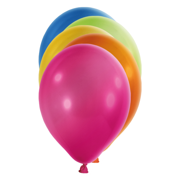 100 Luftballons - Ø 27cm - Metallic - Bunt
