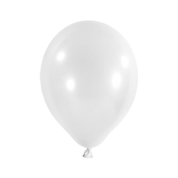 10 Luftballons - Ø 30cm - Metallic - Weiß