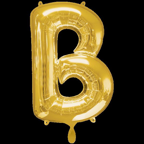 1 Ballon XXL - Buchstabe B - Gold