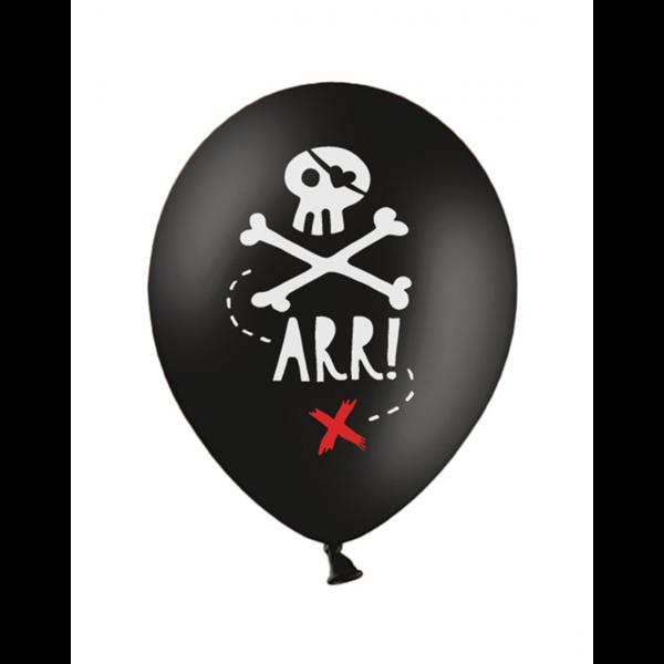 6 Motivballons - Ø 30cm - Piratenparty
