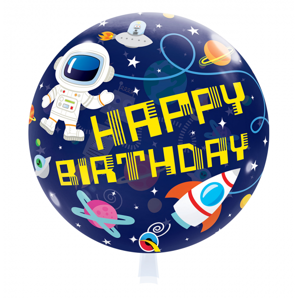 1 Bubble Ballon - Birthday Outer Space