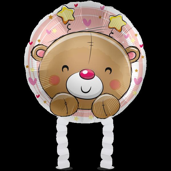 1 Ballonwalker - Bear Hello Baby Girl