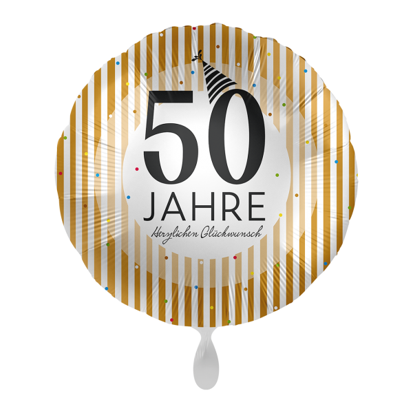 1 Ballon - 50 Jahre Golden Stripes
