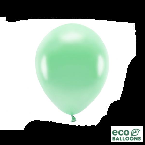 10 ECO-Luftballons - Ø 26cm - Metallic - Mint