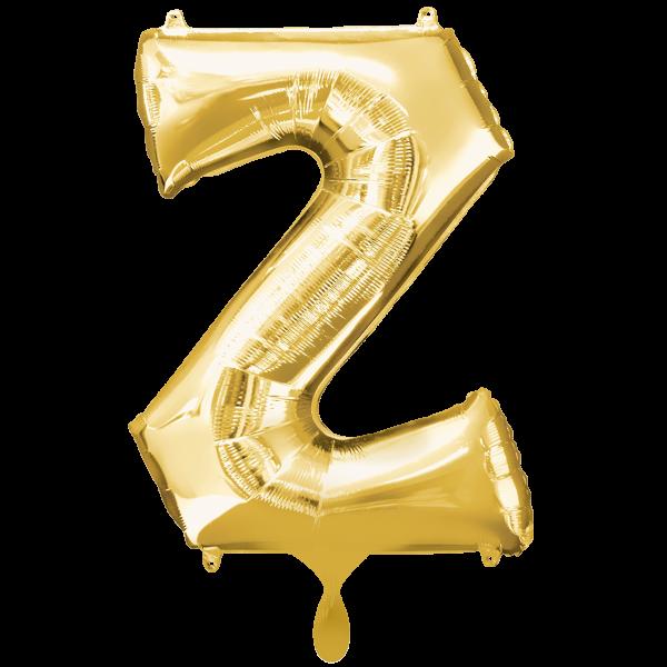 1 Ballon XXL - Buchstabe Z - Gold