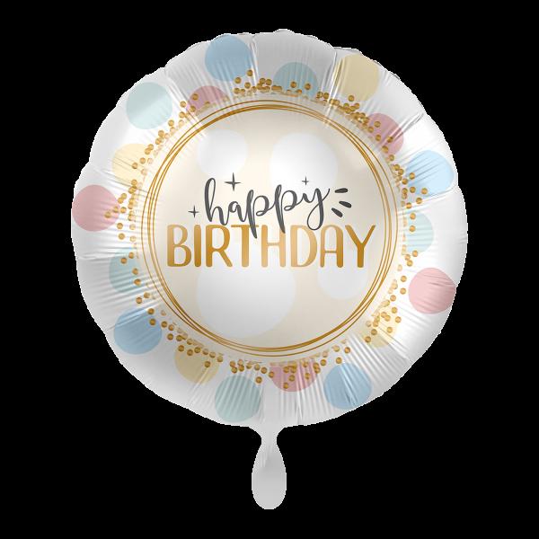 1 Ballon - Birthday Rainbow Dots