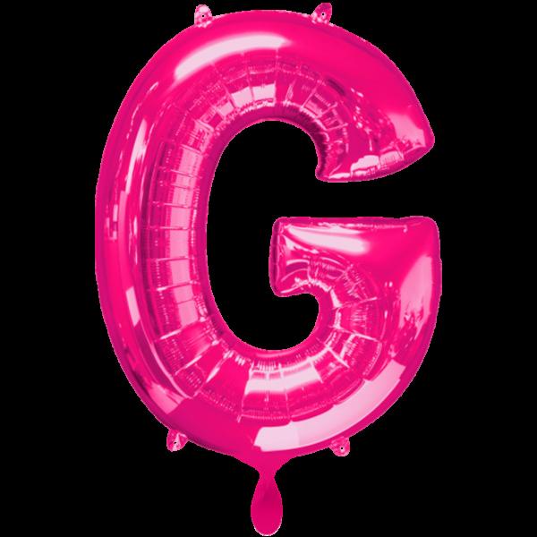 1 Ballon - Buchstabe G - Pink - Ø 86cm