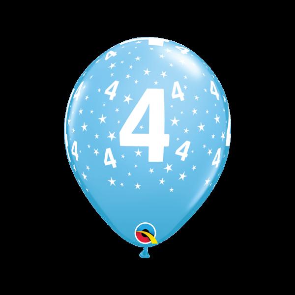 6 Motivballons - Ø 27cm - Age 4