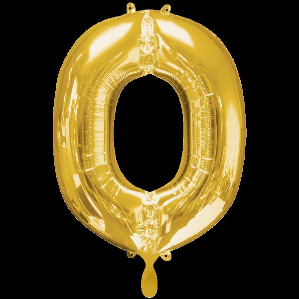 1 Ballon XXL - Buchstabe O - Gold
