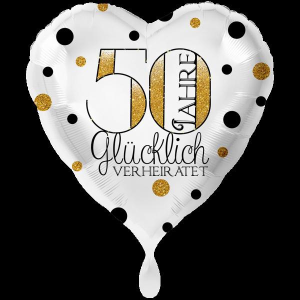 1 Ballon XXL - 50 Jahre Glücklich