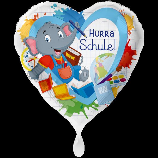 1 Ballon XXL - Elefant Hurra Schule