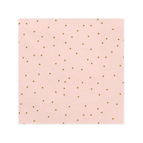 20 Servietten Trend - 33cm - Bright Pink with Dots