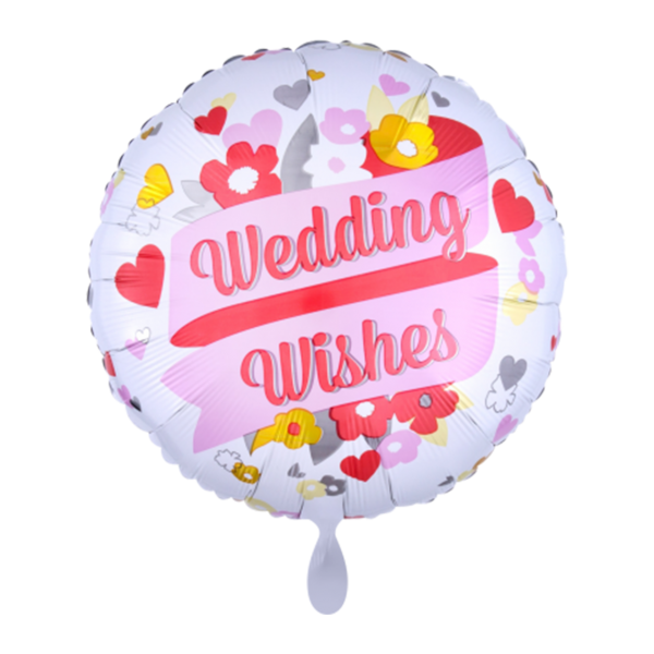 1 Ballon - Wedding Wishes Blumen - Ø 45cm