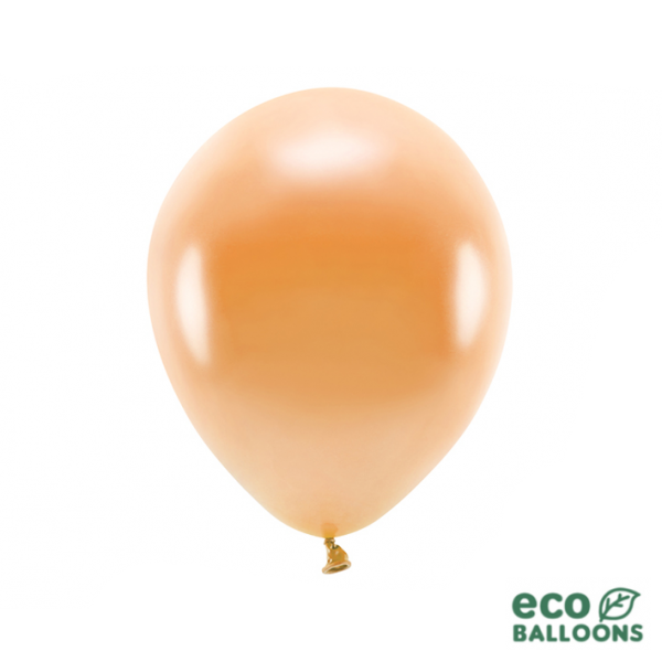 10 ECO-Luftballons - Ø 30cm - Metallic - Orange