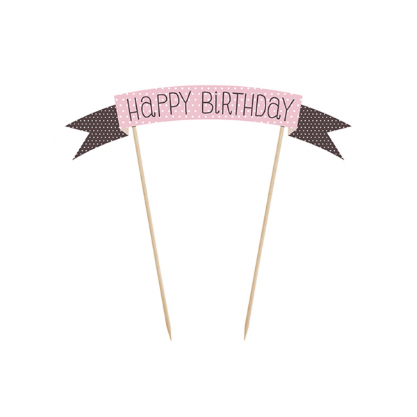 1 Cake Topper - Happy Birthday
