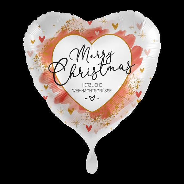 1 Ballon - Smooth Christmas Red