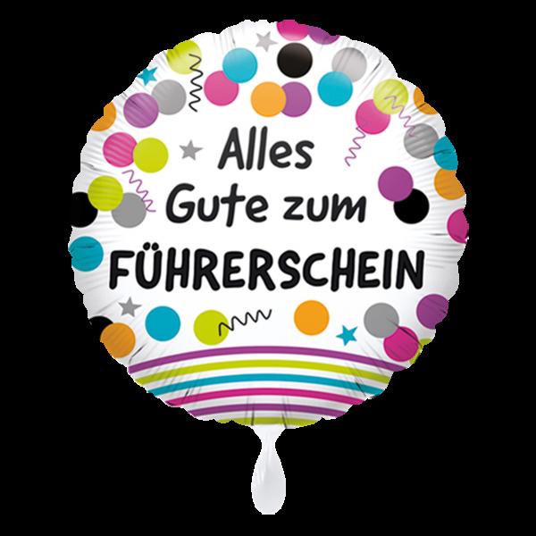 1 Ballon - Alles Gute zum Führerschein