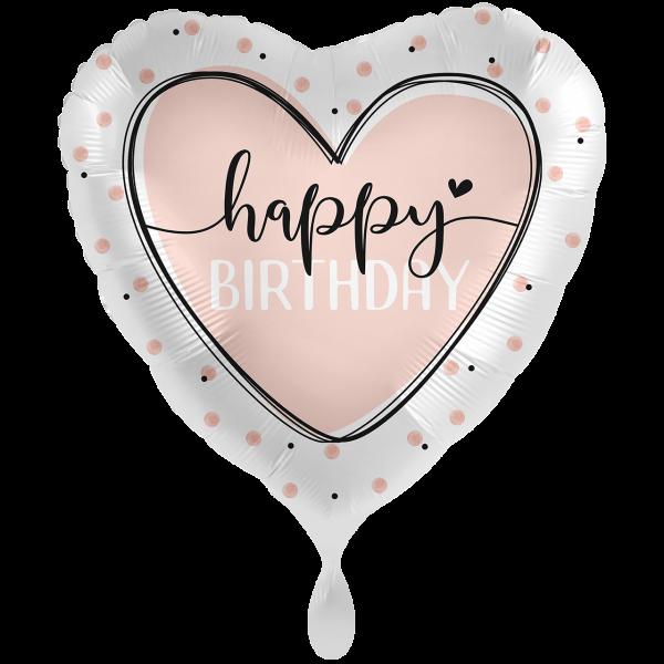 1 Ballon XXL - Glossy Heart Birthday