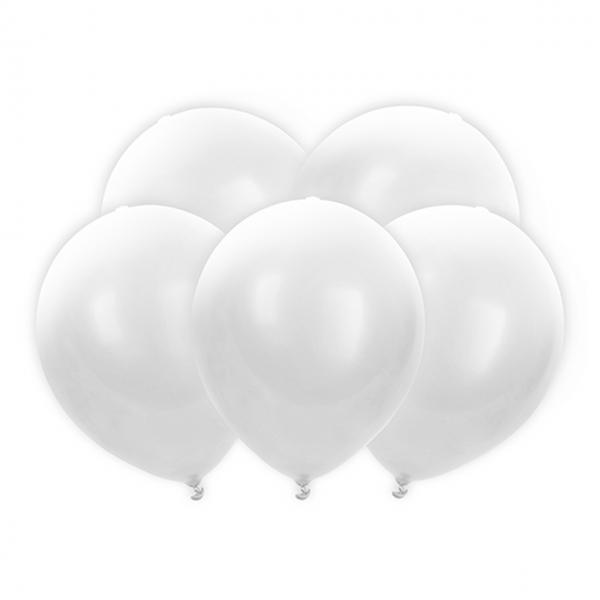 5 LED-Luftballons - Ø 30cm - Weiß
