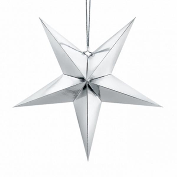 1 Paperstar - 45cm - Silber