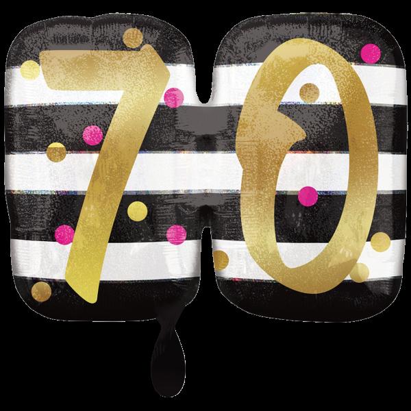 1 Ballon XXL - Pink & Gold Milestone 70