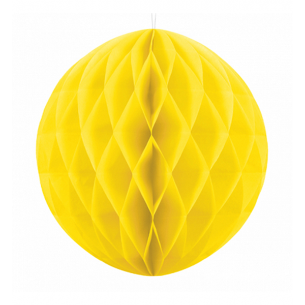 1 Wabenball XXL - Ø 30cm - Gelb